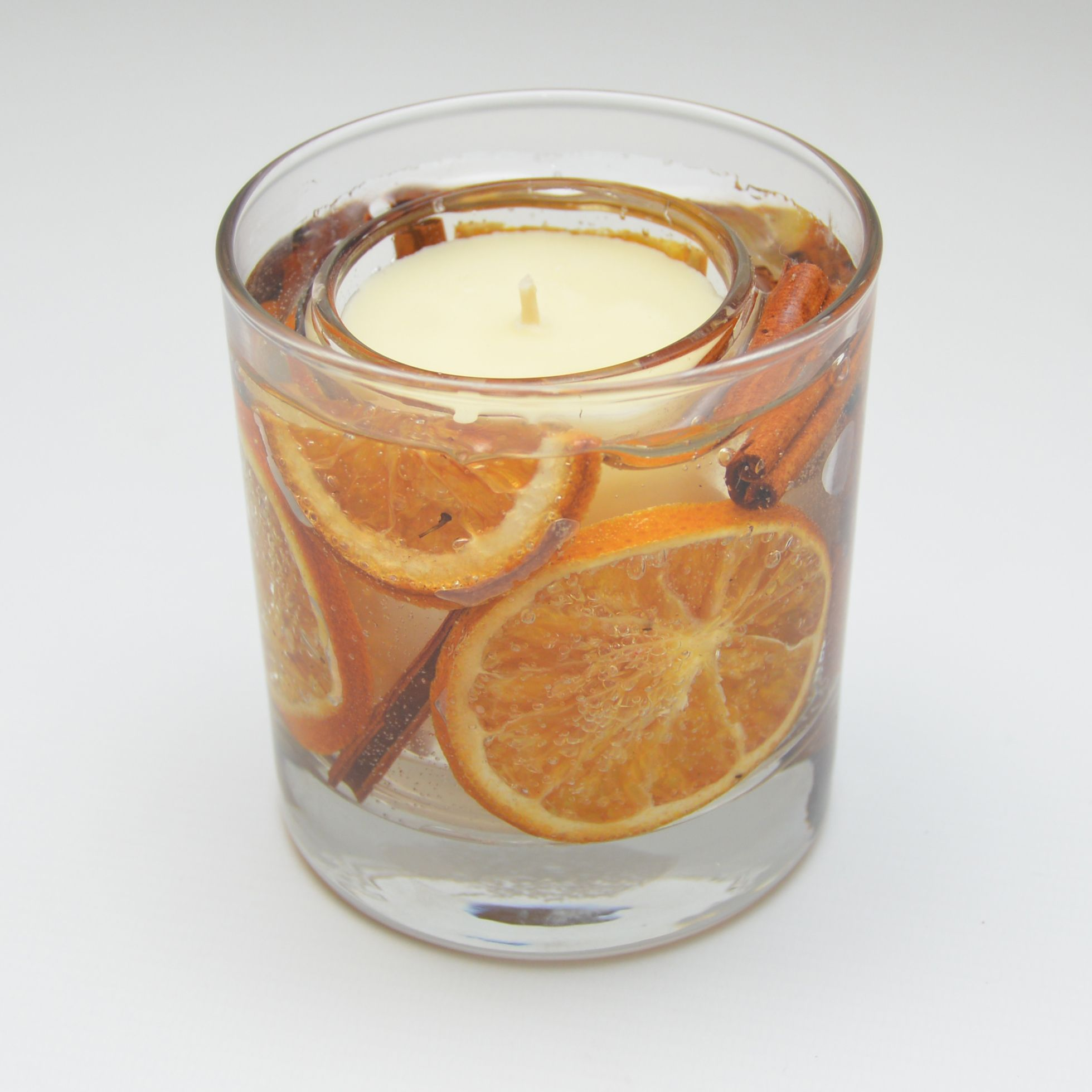 Orange Cinnamon Scented Candle Gel Tumbler